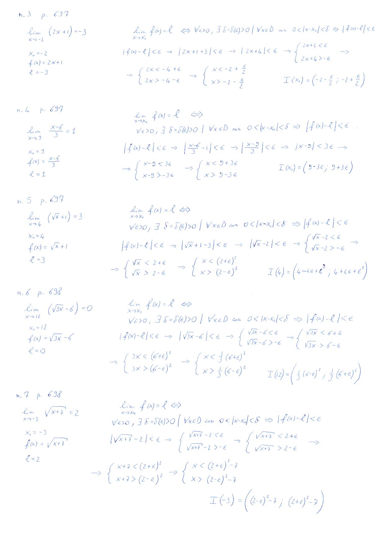 Limite Finito Per X Che Tende A Un Valore Finito.Esercizi Sulla Definizione Di Limite Di Funzioni